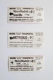 マドリッド地下鉄チケット